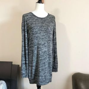 Wilfred Free Steffi Dress Marled Dark Grey Mini